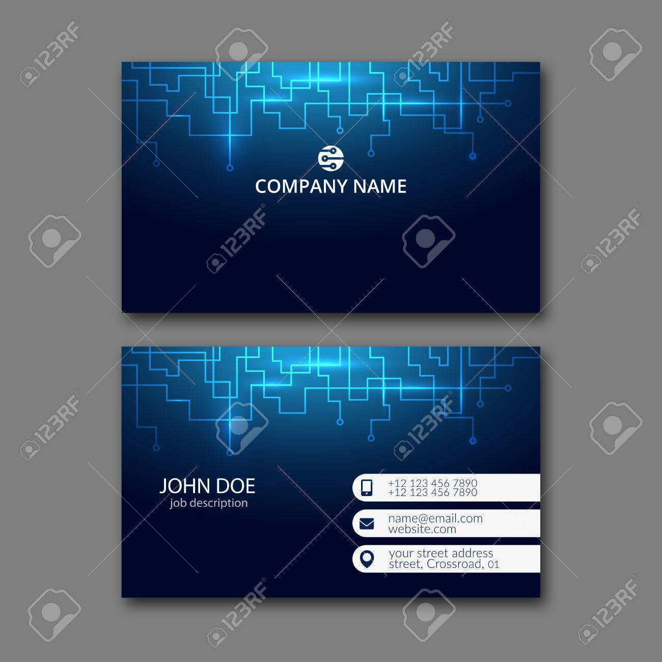 Elegant business card design template for creative design royalty elegant business card design template for creative design stock vector 67780553 flashek Images