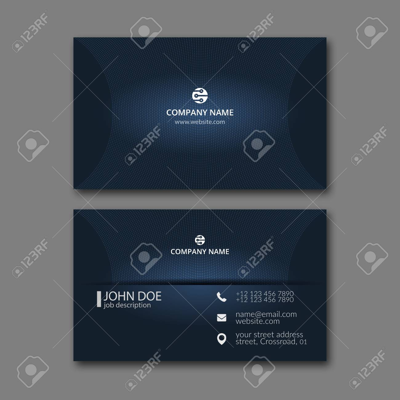 Elegant business card design template for creative design royalty elegant business card design template for creative design stock vector 68947221 reheart Gallery