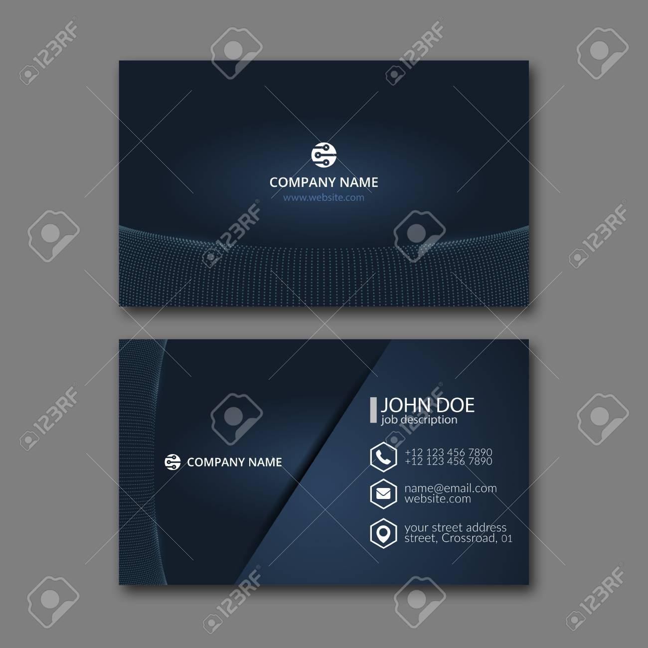 Elegant Business Card Design Template For Creative Design. Royalty ...