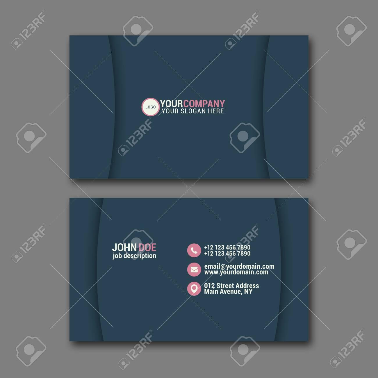 Elegant business card design template for creative design royalty banco de imagens elegant business card design template for creative design reheart Gallery