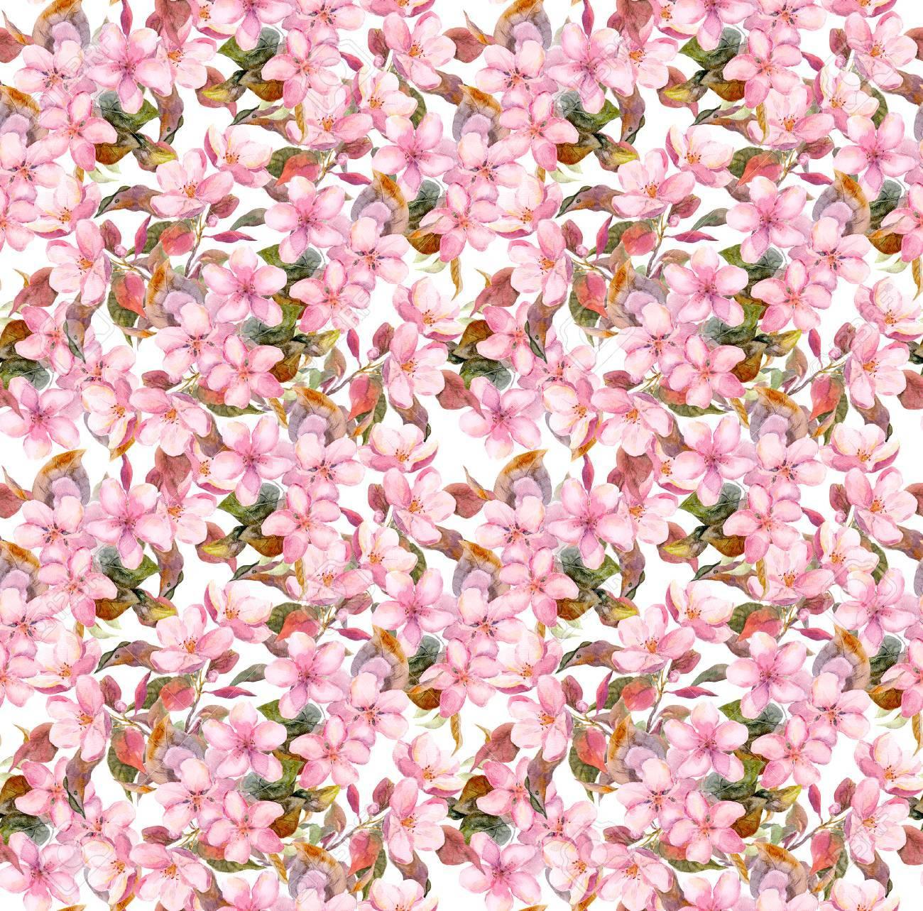 Immagini Stock Fioritura Fiori Rosa Seamless Vintage Motivo
