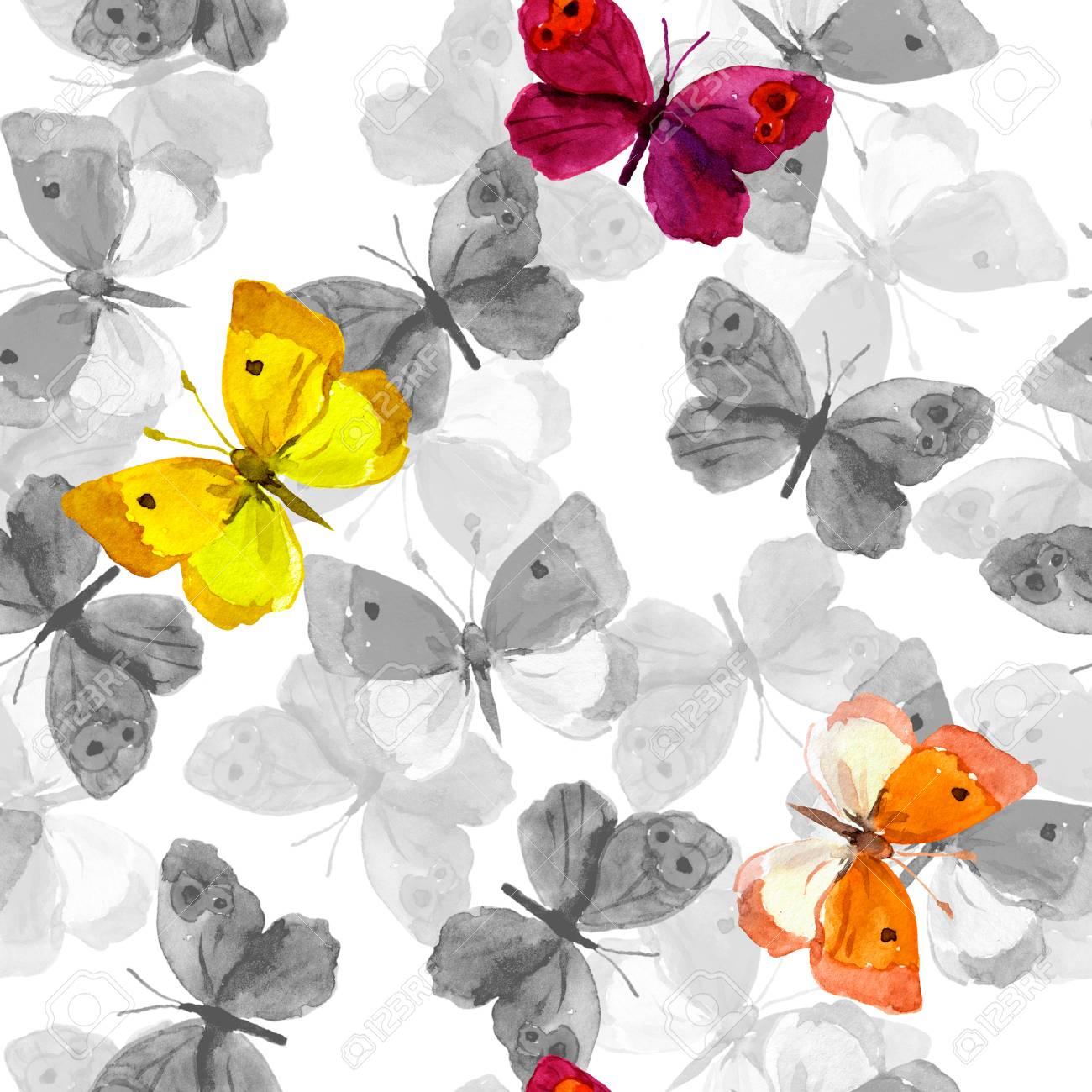 Sin Patrón Con La Mano Decorativo Pintadas Mariposas Dibujo