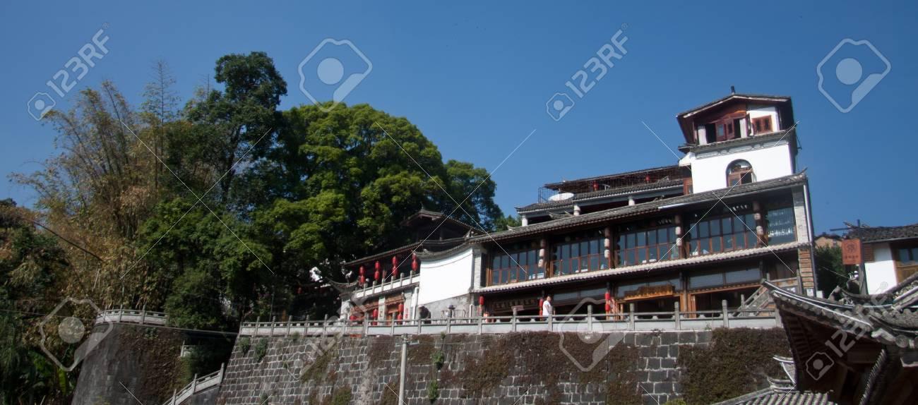 Buildings At Heshun Town, Tengchong County, Yunnan Province Stock ...