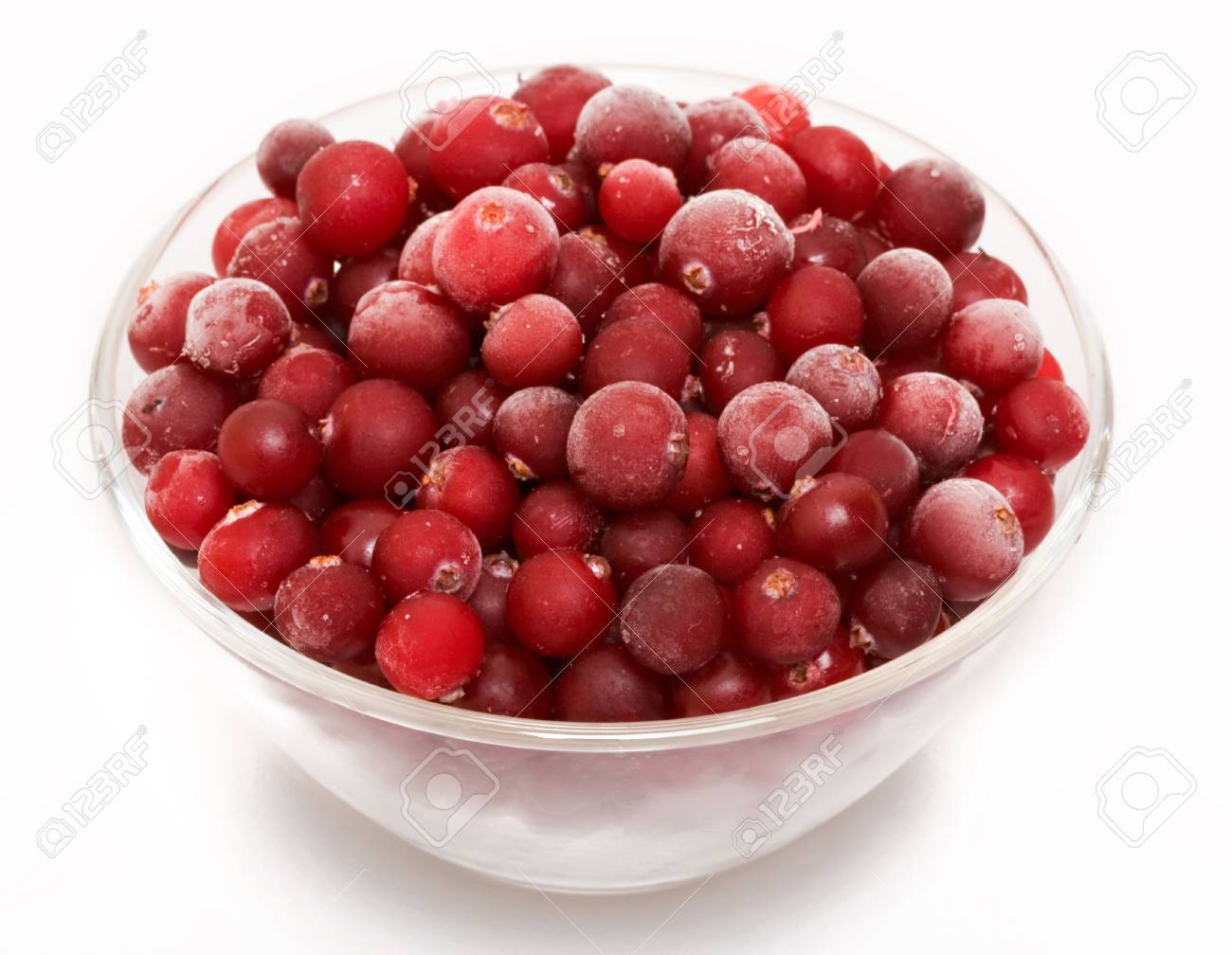 Cranberry in glass bowl Stock Photo - 4874929