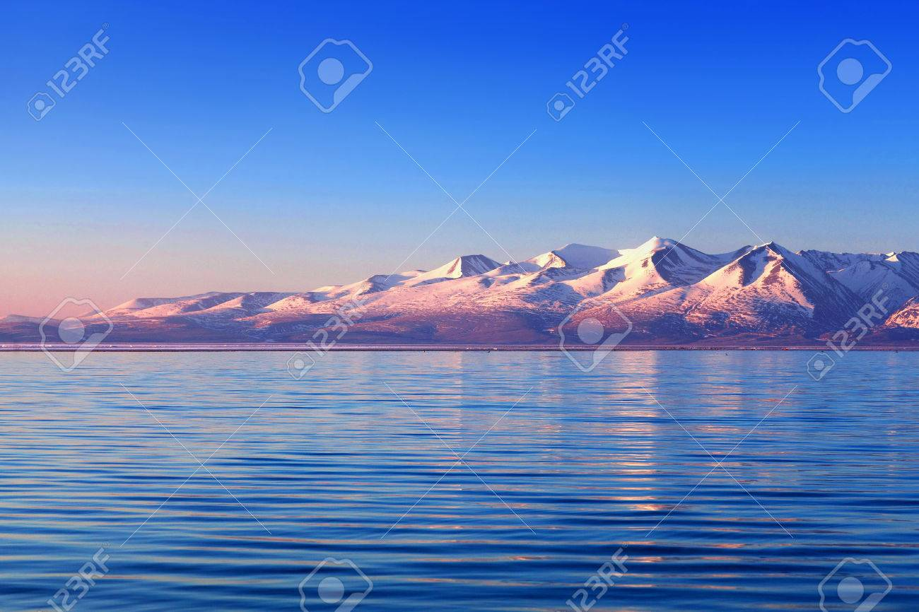Lake Manasarovar in Western Tibet. According to the Hindu religion, the lake was first created in the mind of the Lord Brahma after which it manifested on Earth - 65211446