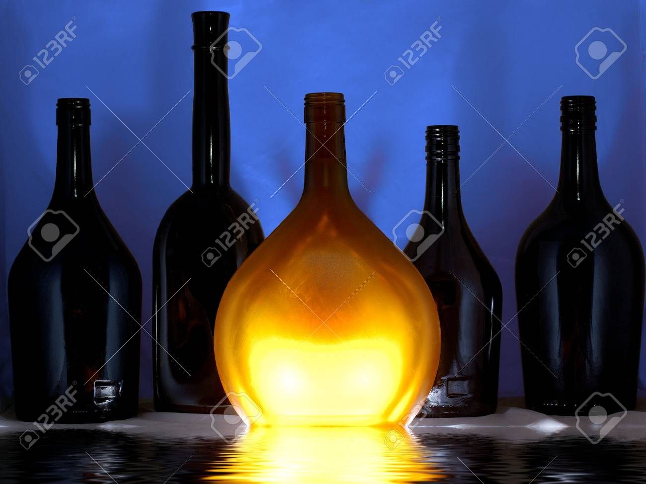 Secrets of cellar dark bottles Stock Photo - 2513955