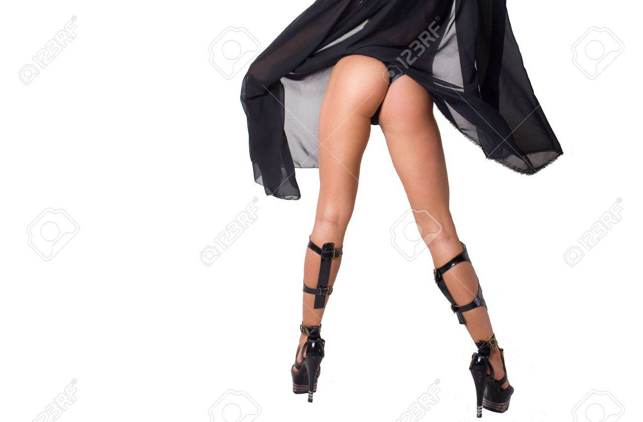 Closeup lady in stockings with long legs Stock Photo - 5652061 87255576b