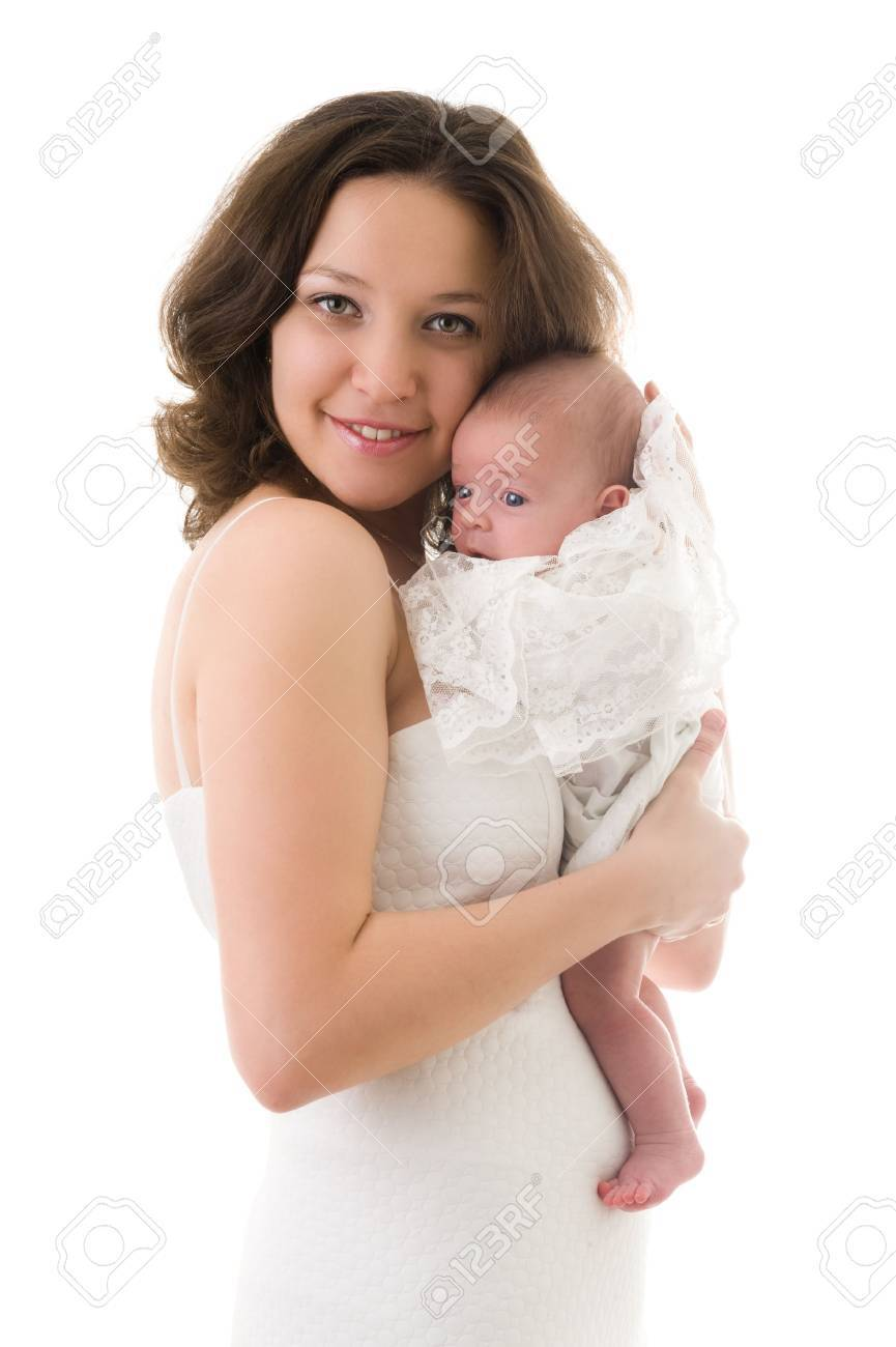 Picture of smiling mother with baby girl Stock Photo - 6291490