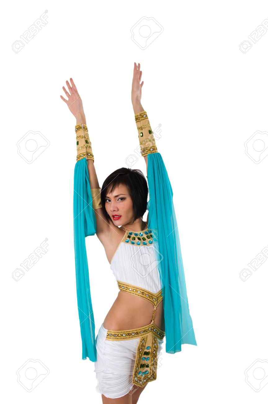 Egyptian woman in pharaoh costume over white background Stock Photo - 6291411  sc 1 st  123RF.com : woman pharaoh costume  - Germanpascual.Com